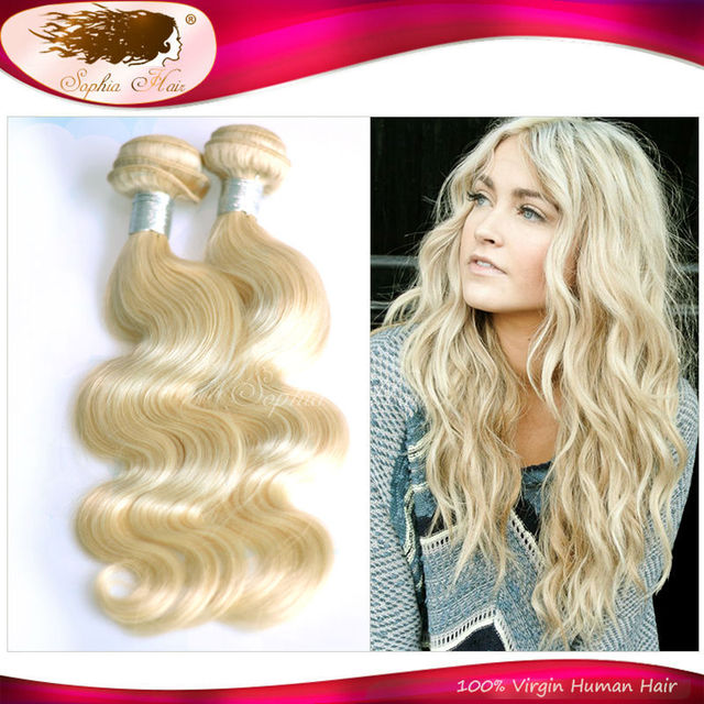 Top Quality Body Wave Blonde Brazilian Hair Weave 2 Bundles 1226
