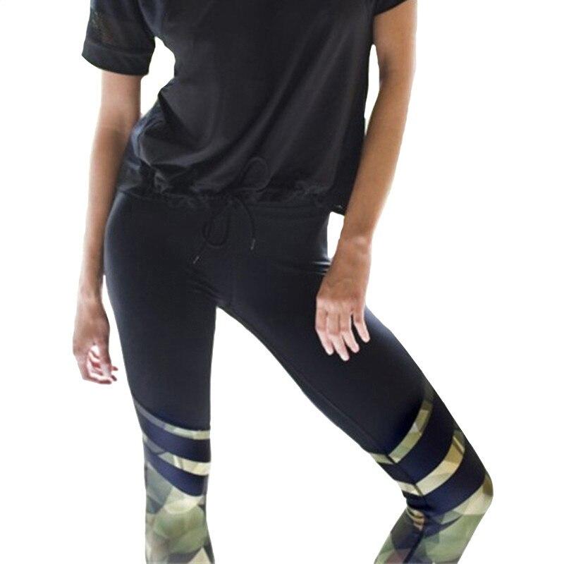 CHSDCSI Hot Sale Camouflage Leggings Push up Leggings Sportswear Bodybuilding Female High Quality Stripe Pants Women's Leggings