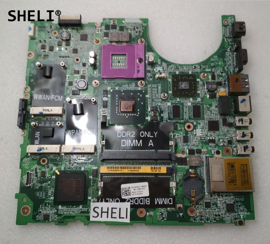 SHELI For Dell 1535 Laptop Motherboard CN-0H281K 0H281K H281K