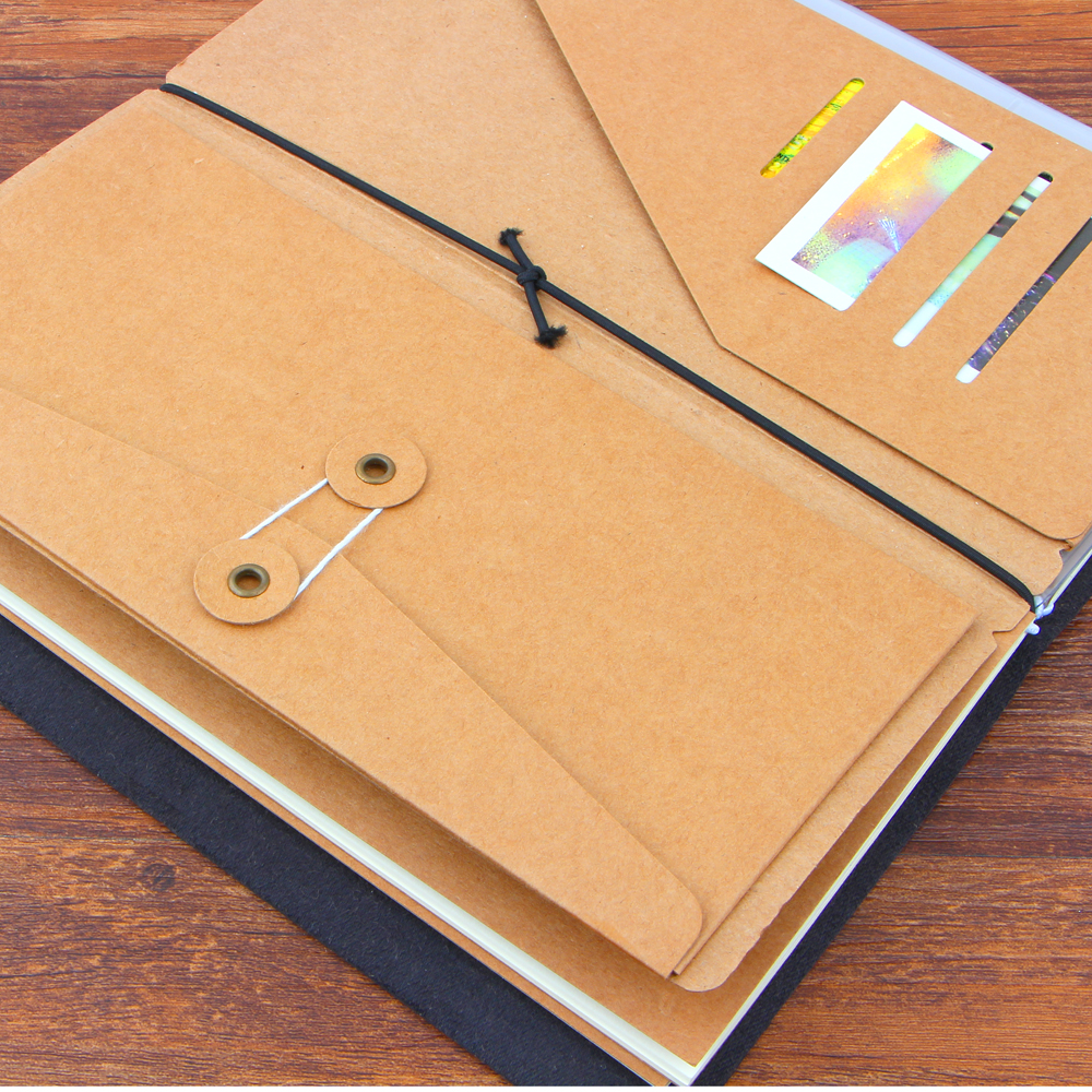 Traveler's Notebook Kraft Paper S M L Pocker Business Card Holder Passport Standard / carry / passport Style File Folder