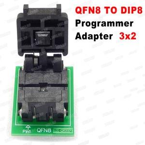 Image 4 - QFN8 כדי DIP8 מתכנת מתאם WSON8 DFN8 MLF8 כדי DIP8 שקע עבור 25xxx 6x5 3x2 8x 6mm המגרש = 1.27mm
