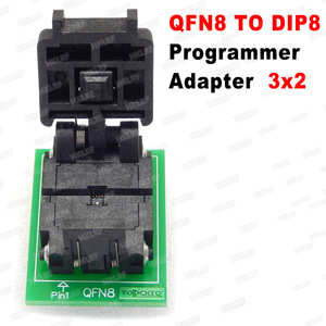 Image 4 - QFN8 to DIP8 Programmer Adapter WSON8 DFN8 MLF8 to DIP8 socket for 25xxx 6x5 3x2 8x6mm Pitch=1.27mm