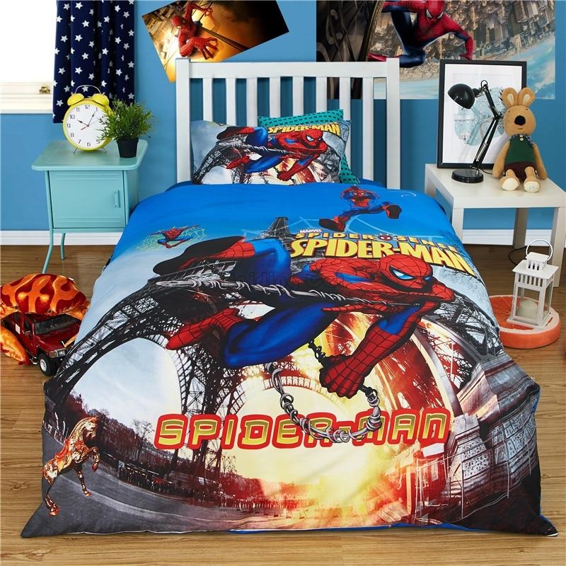 Cartoon Cotton Avengers Bedding Set Twin Full Size Comforter Sets
