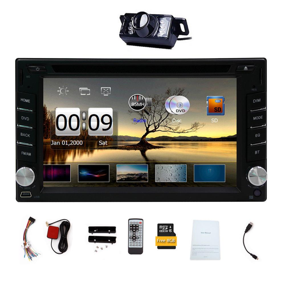 2DIN In Dash GPS Navi Car DVD Player Bluetooth Auto Stereo Radio USB+CAMERA android 5 1 car radio double din stereo quad core gps navi wifi bluetooth rds sd usb subwoofer obd2 3g 4g apple play mirror link