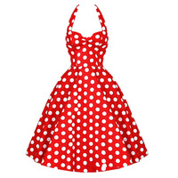 New Designer Robe Short Womens Summer 50s Rockabilly Swing Pinup Dance Wedding Party Casual Vintage Dresses