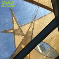 6 x 6 x 6 M/pcs HDPE breathable Sun Shade Sail 95% UV protection in Arc edge D rings style for garden shade