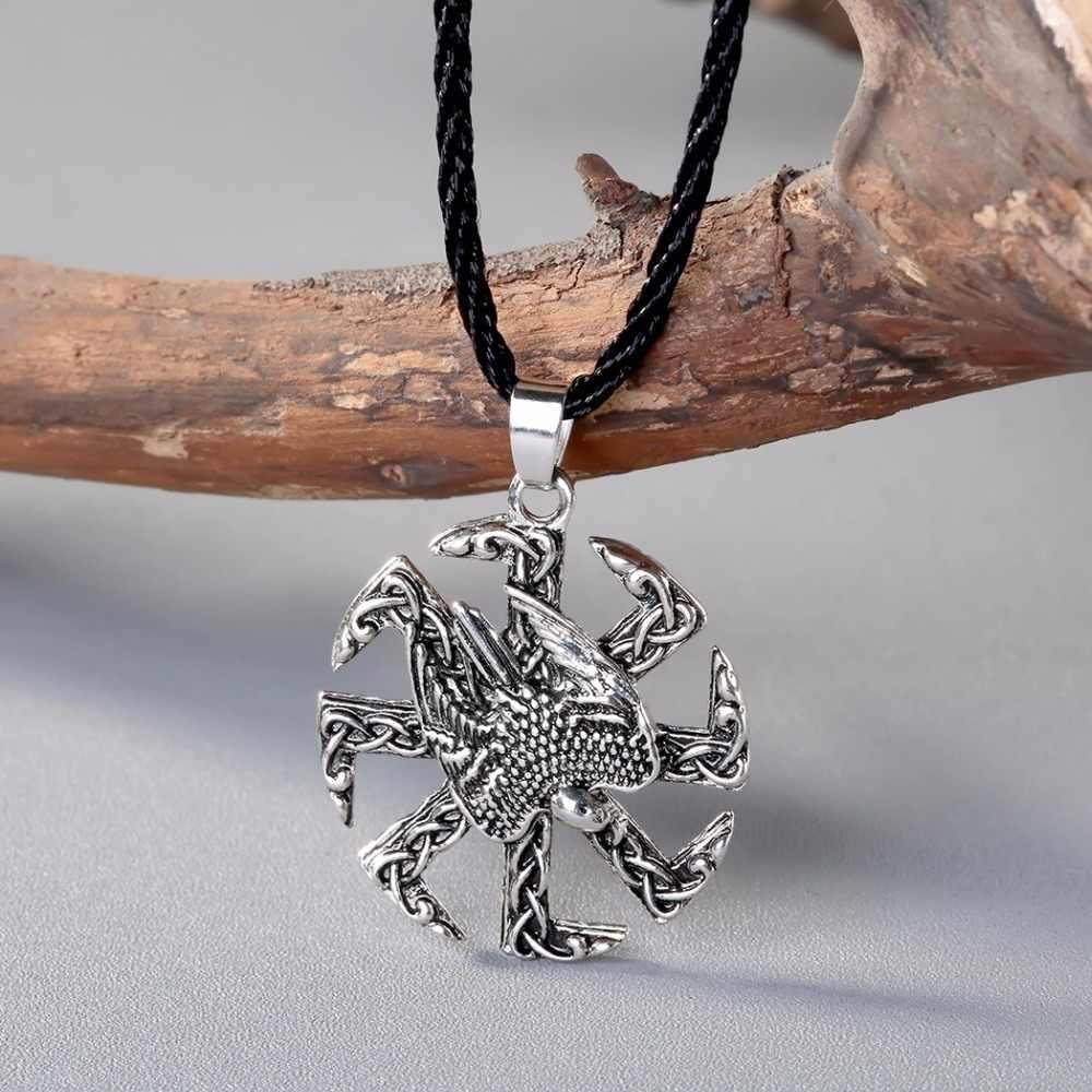 Viking Орел Винтаж Цепочки и ожерелья Для мужчин унисекс ювелирные изделия амулет Тысячелетнего Сокола, символ коловрата Для женщин викингов подвеска, женские ожерелья