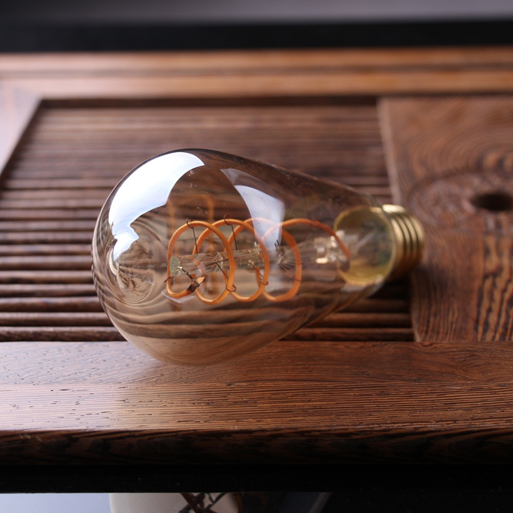 Lâmpadas Led e Tubos frasco de vidro Âmbar, super Ocasião : Sala de Estar