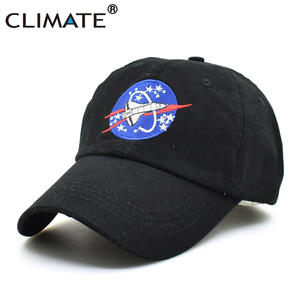 4f32bfdeea0 CLIMATE Black Dad Hat Space Fans Cotton Baseball Cap Men