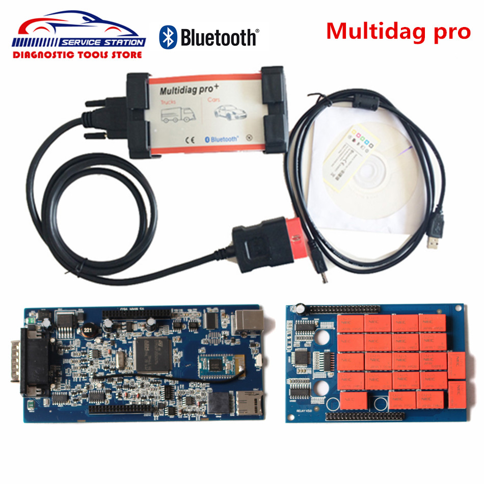 2017 Released Multidiag Pro Bluetooth for Cars and Trucks TCS CDP New VCI 2014.2 with Keygen Diagnostic Tool with Best Quality new arrival new vci cdp with best chip pcb board 3 0 version vd tcs cdp pro plus bluetooth for obd2 obdii cars and trucks