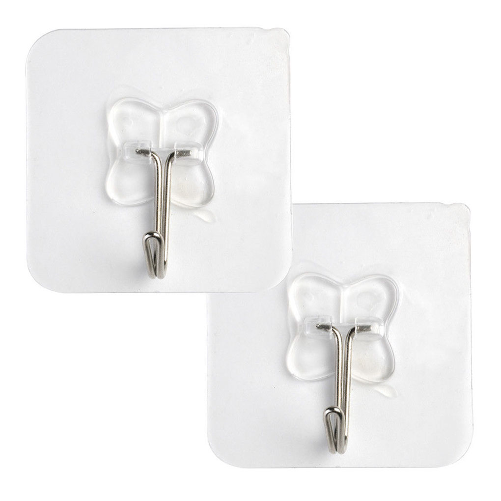 2pcs Removable Bathroom Kitchen Wall Strong Suction Cup Hook Hangers Vacuum Sucker
