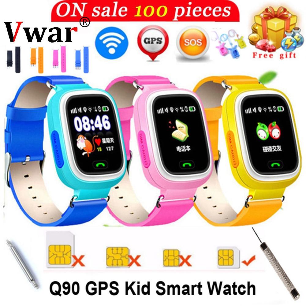 GPS Q90 ילדים ילדי תינוק חכם תינוק שעון שעון SOS שיחת GPS WIFI מיקום גשש ילד בטוח אנטי איבד צג smart watch