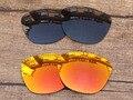 Черный и Красный Огонь 2 Пар Поляризованных Сменные Линзы Для Frogskins Солнцезащитные Очки Кадров 100% UVA и UVB Защиты