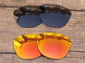 Black & Fire Red 2 Pairs Polarized Replacement Lenses For Frogskins Sunglasses Frame 100% UVA & UVB Protection