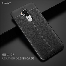 For LG G7 Case Shockproof Luxury Leather TPU Cover Anti-knock Phone 2018 G710 6.1 Funda BSNOVT