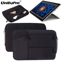 Unidopro Multifunctional Sleeve Briefcase Handbag Case For Microsoft Surface Pro 2017 Surface Pro 4 Laptop Carrying