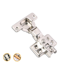 купить Series Hinge Stainless Steel Door Hydraulic Hinges Damper Buffer Soft Close For Cabinet Cupboard Furniture Hardware дешево