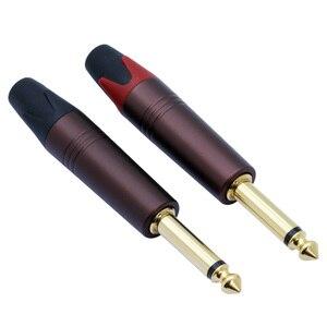 """Image 3 - 10pcs 2 poles 6.35mm mono sophomore core amplifier microphone 6.35mm jack 1/4"""" mono male connector 6.3mm 6.5mm audio plug jack"""