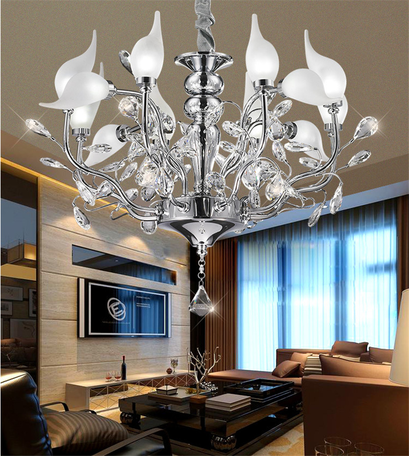 LED K9 Crystal swan Pendant Lights Northern Europe Plated Chrome 90-260V Pendant lamp Dining Room chromeplate Swan droplight диски helo he844 chrome plated r20
