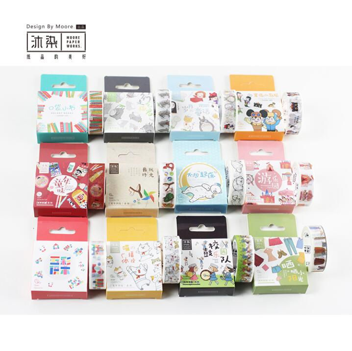 15mm*7M My First Journey of Childhood Memory Washi Tape Adhesive Tape DIY Scrapbooking Sticker Label Masking Tape my fairies sticker storybook
