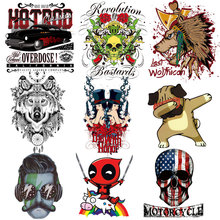 ZOTOONE Cartoon Alphabet Clothing Patch Heat Transfer Vinyl DIY T-shirt Skull Ironing Sticker Hot Press D