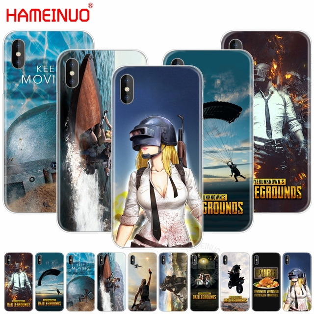 best service 56738 ca750 US $1.55 34% OFF|HAMEINUO Playerunknown's Battlegrounds PUBG cell phone  Cover case for iphone X 8 7 6 4 4s 5 5s SE 5c 6s plus-in Half-wrapped Case  ...