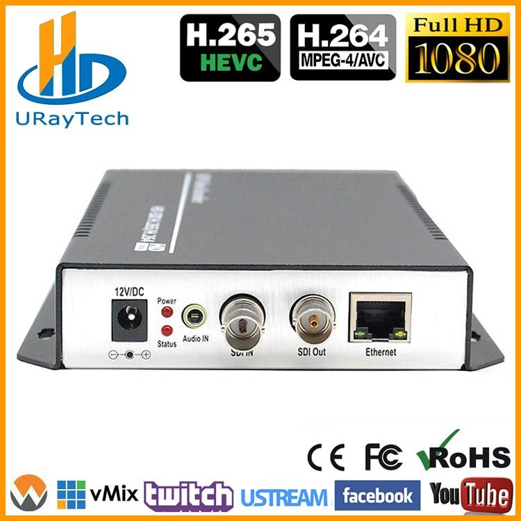 HEVC H.265 H.264 SD / HD / 3G SDI az IP Live Streaming videóhoz IPTV - Otthoni audió és videó