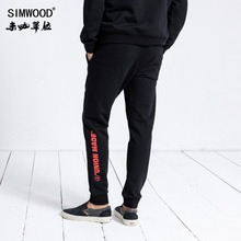 SIMWOOD 브랜드 스웨트 남성 2020 겨울 패션 스포츠 조깅 바지 남성 바지 캐주얼 편지 인쇄 힙합 Streetwear 180552