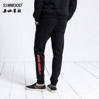 SIMWOOD Brand Sweatpants Men 2019 Winter Fashion Sport Jogger Pants Men Trousers Casual Letter Printed Hip Hop Streetwear 180552