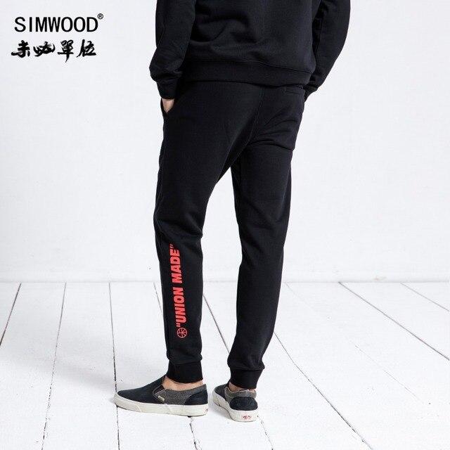 SIMWOOD Brand Sweatpants Men 2020 Winter Fashion Sport Jogger Pants Men Trousers Casual Letter Printed Hip Hop Streetwear 180552