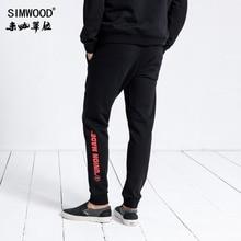 Simwood marca sweatpants masculino 2020 inverno moda esporte jogger calças masculinas casual carta impresso hip hop streetwear 180552