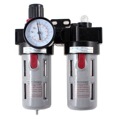 1/2 PT Port Pneumatic Filter Regulator Air Source Treatment Unit w Gauge BFR-4000 air unit pneumatic source treatment g1 4 afc2000
