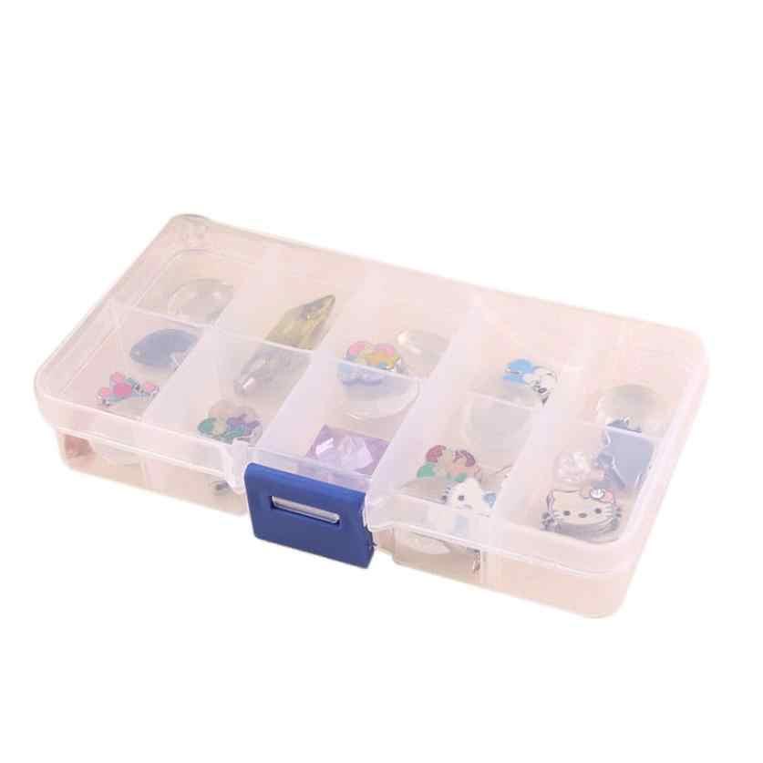 Boîte de rangement boîte 10 anneaux de fente affichage organisateur boîte bijoux PC élégant plateau conteneurs de stockage 18JAN15