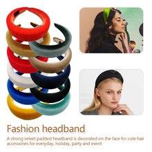 Unique Fashion Thick Velvet Headbands Women Wide Head Band  Elasticity Hairbands Elegant Girl Hair Accessories Vintage