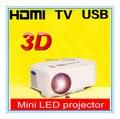 Cheapest LED Pico Projector Native 640*480 Resolution With HDMI AV USB SD VGA Ports Home Cinema