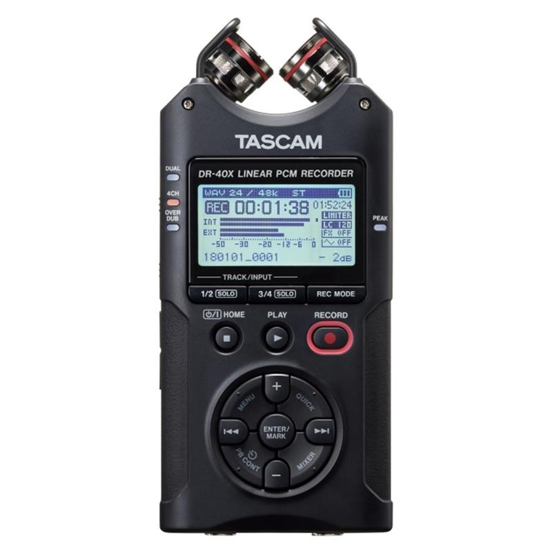 Upgraded TASCAM DR40X DR 40X versatile four track digital audio recorder pen interview recorder USB mic