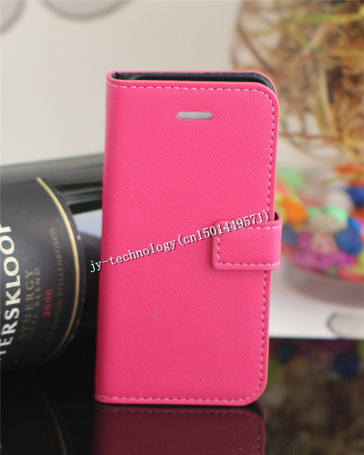 Original Designer Pine Grain Leather Flip Case For iphone 5  Mobile Phone Cover Free shipping