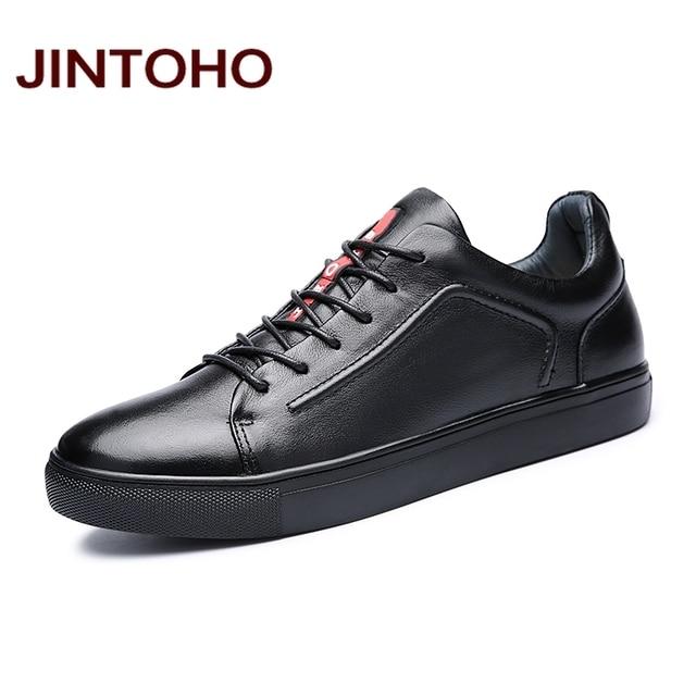 JINTOHO Men Genuine Leather Shoes