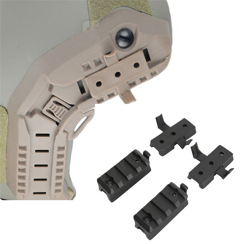 Tactical Airsoft Helmet Rail Adapter Mount Set For FAST ACH MICH IBH Helmet Rail Connectors Accessories Picatinny Rail Adapter
