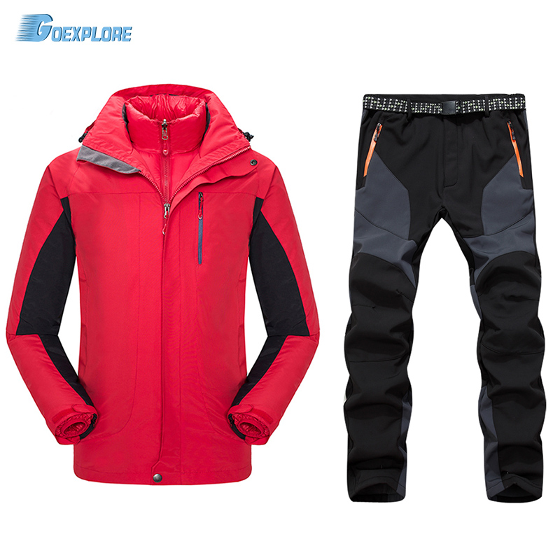 Dropshipping Brand Winter New Sports Coats hiking Ski Suit Waterproof jacket and pants two piece camping outdoor suit for mens mindewin wireless restaurant paging system 10pcs waiter call button m k 4 and 1pcs receiver wrist watch pager m w 1 service bell