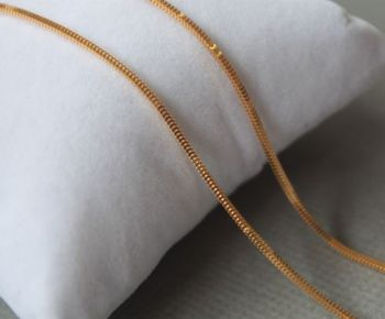 Pure 18K Yellow Gold 1.0mm Milan Box Link Chain Necklace 40cm Length Au750 3