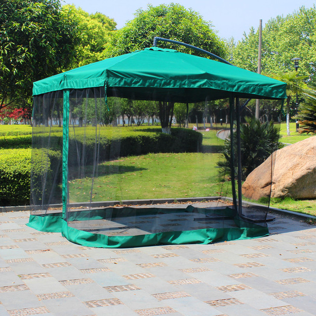 2.7 Meter Steel Iron Sun Garden Umbrella Parasol Patio Outdoor Furniture  Covers Sunshade With 4 Sides