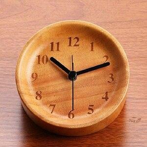 Despertador relógio digital de madeira relógio despertador reloj despertador desktop de cabeceira despertadores reveil saat estudantes mudo masa saati|wooden digital clock|alarm clockdespertador reloj -