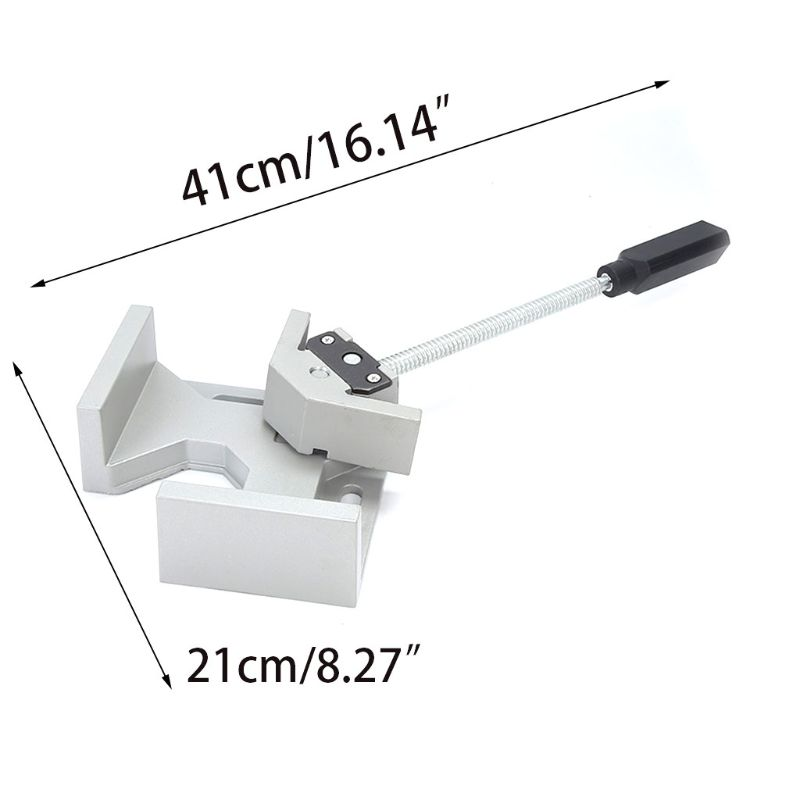 Single Handle 90 Degrees Right Angle Clamp Two Axis Alluminum Carpentry Woodworking Tools Welding Clamp