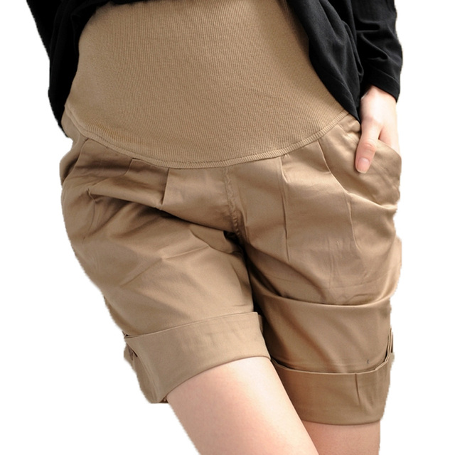 hot sale casual summe maternity shorts pregnant woman 5 point shorts comfortable abdominal shorts belly pants