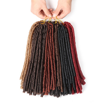 SAMBRAID Soft Dreadlocks Crochet Braids 14 Inch Faux Locs Hair For Women Synthetic Braiding Extension 30 Roots