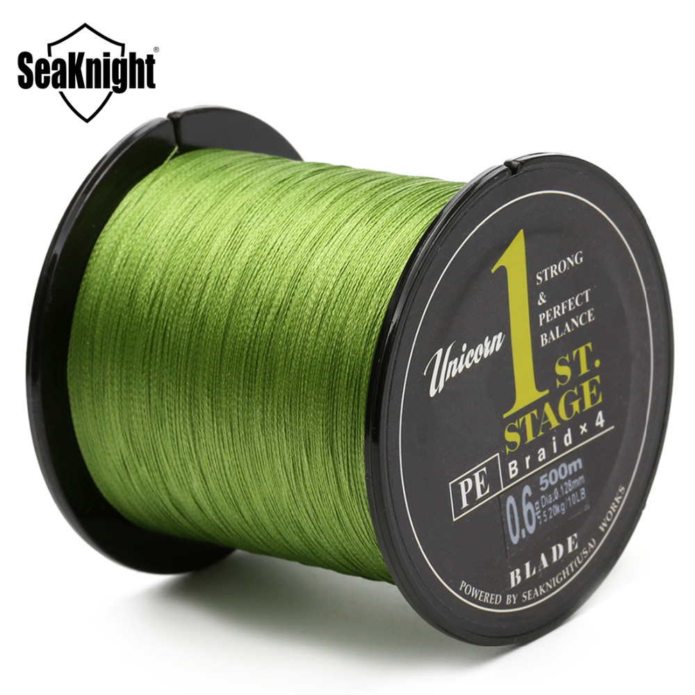 SeaKnight Brand Blade Series 500M Good Quality Japan PE Braided Fishing Line Multifilament Fish Line Rope  8 10  20 30 40 60LB