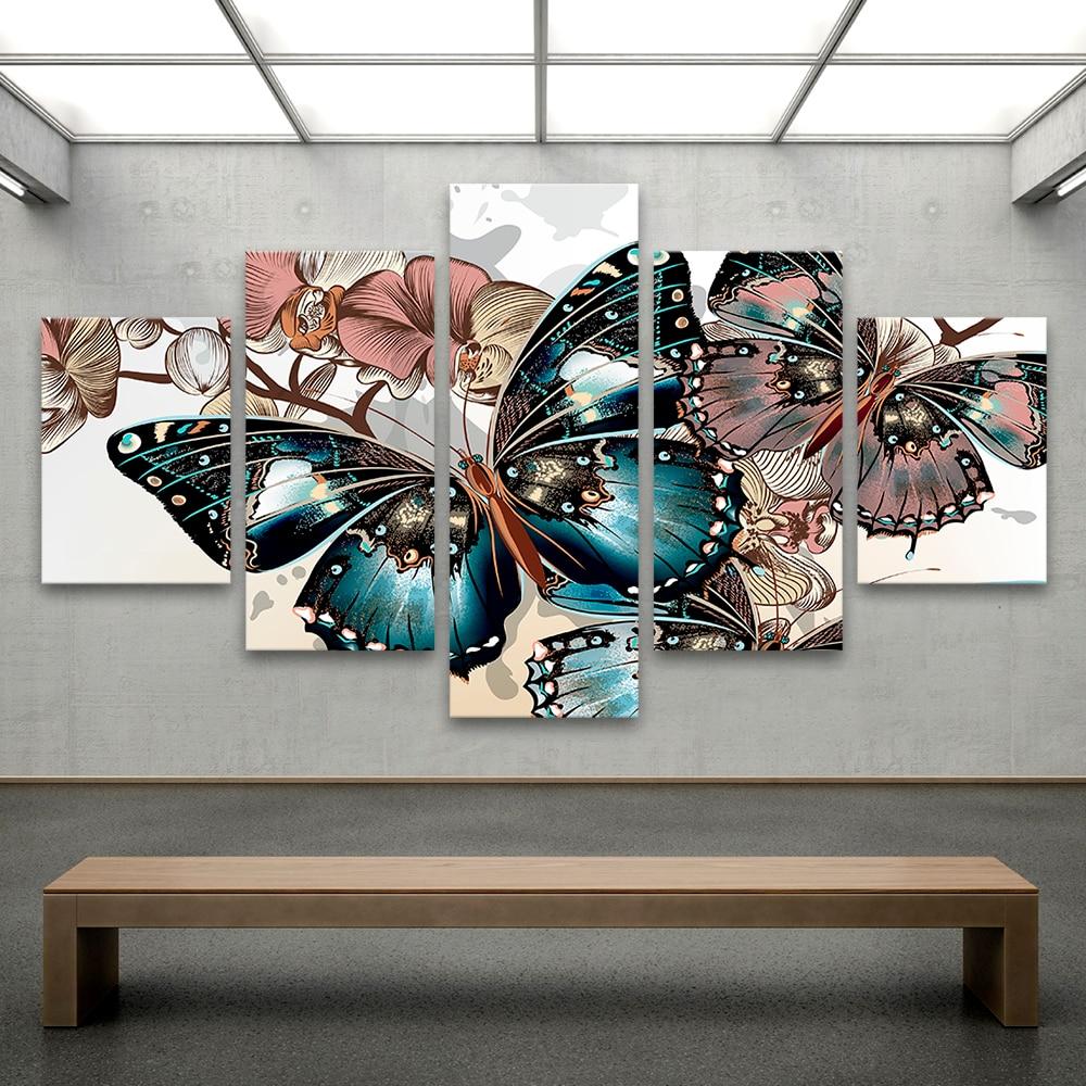 Aliexpress.com: Comprar QKART Cuadros decorativos lienzo pinturas 5 ...
