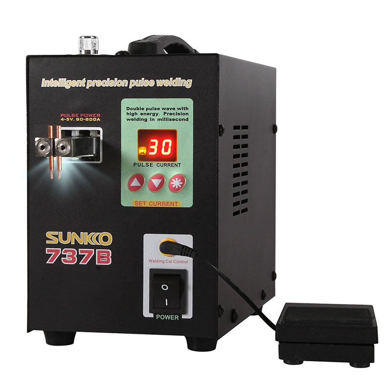 SUNKKO 737B Battery Spot Welding Machine Intelligent Precision Pulse Welding Handheld Welding Machine For 18650 Battery