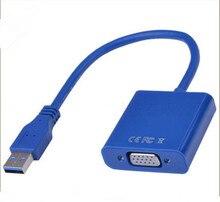USB3.0 видео Графическая карта Дисплей внешний кабель-адаптер для WIN7 WIN8 Vista 1080 P/USB 3,0 на адаптер VGA разъем